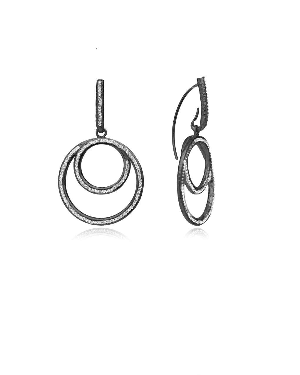 Eternity Swirl Loop Earrings