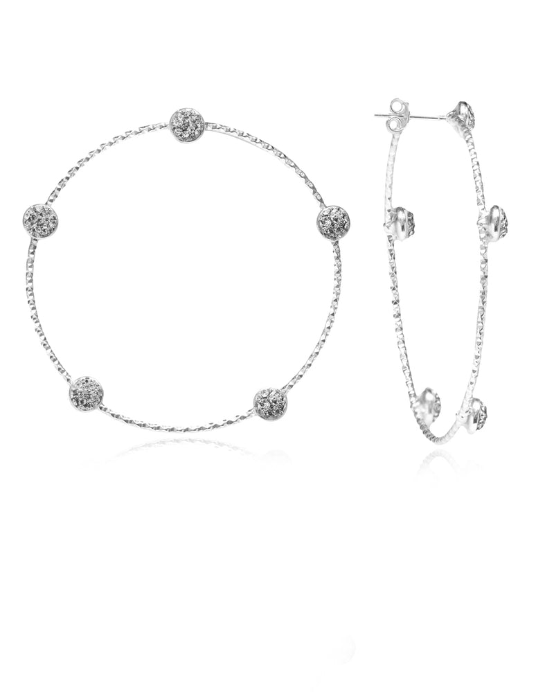Multi Crystal Stud Hoops