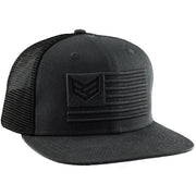 BLACKOUT MESH SNAPBACK HAT