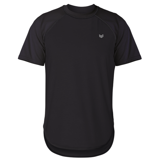 BLACK ATHLETIC TEE