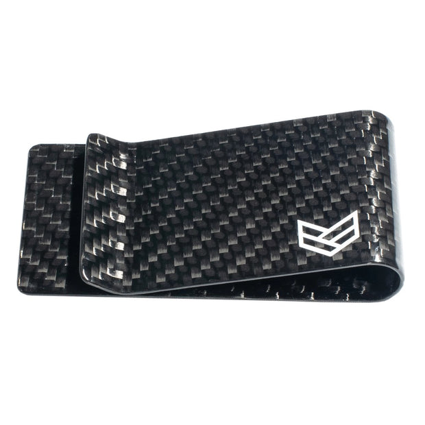 Ronin Factory Carbon Fiber Money Clip wallet Black