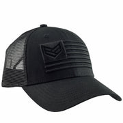 BLACK COMBAT TRUCKER HAT