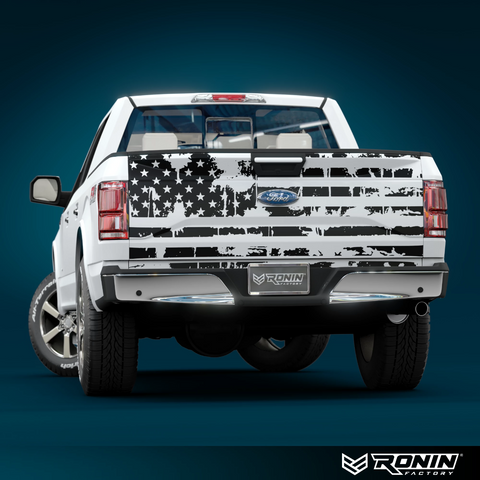 Truck Tailgate Flag Decal