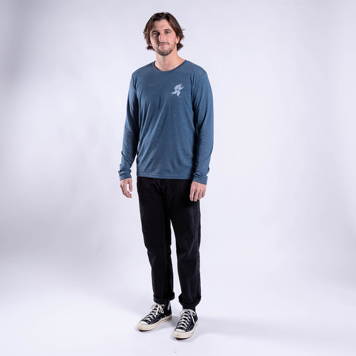 GNARNIA INDIGO LONG SLEEVE SHIRT