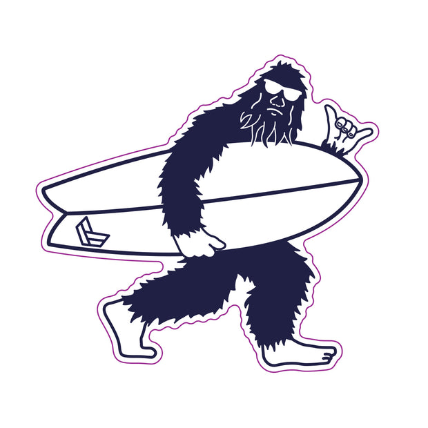 SURFBOARD SQUATCH DECAL