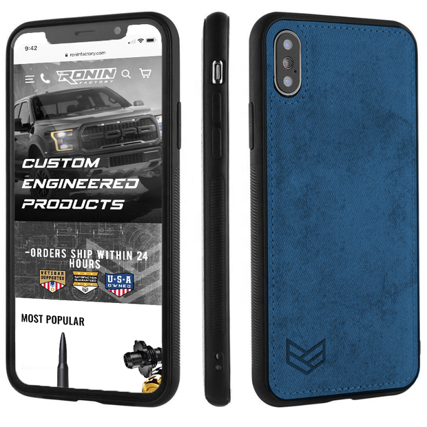 BLUE iPHONE X PHONE CASE