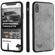 GREY iPHONE X PHONE CASE