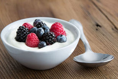 Greek yogurt with mixed berries