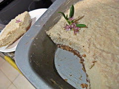 Lavender and lemon raw cheese cake