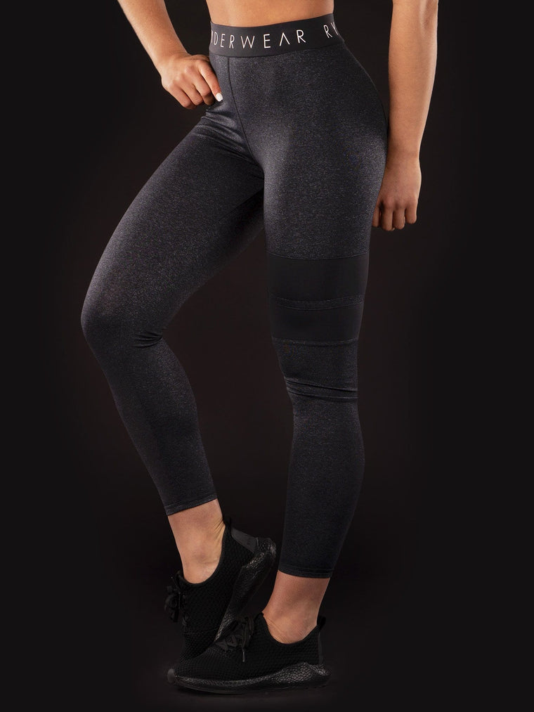 Block Banded Leggings Limited Addition Black