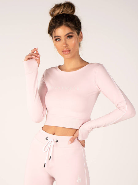BSX Cropped Sweater Baby Pink - Tonic UAE BSX Cropped Sweater Baby Pink - Athletic Wear Ryderwear - tonic athletic apparel Tonic UAE - tonic UAE