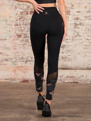 Camo High Waisted Leggings Black - Tonic UAE Camo High Waisted Leggings Black - Athletic Wear Ryderwear - tonic athletic apparel Tonic UAE - tonic UAE