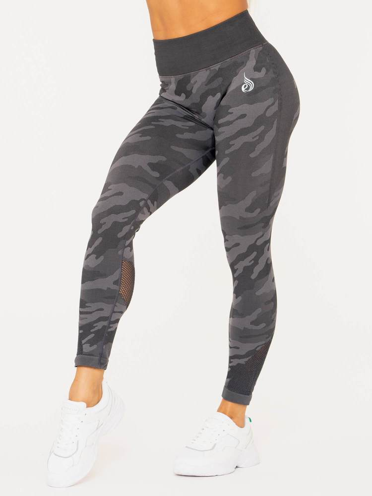 Camo Seamless High Waist Leggings Charcoal