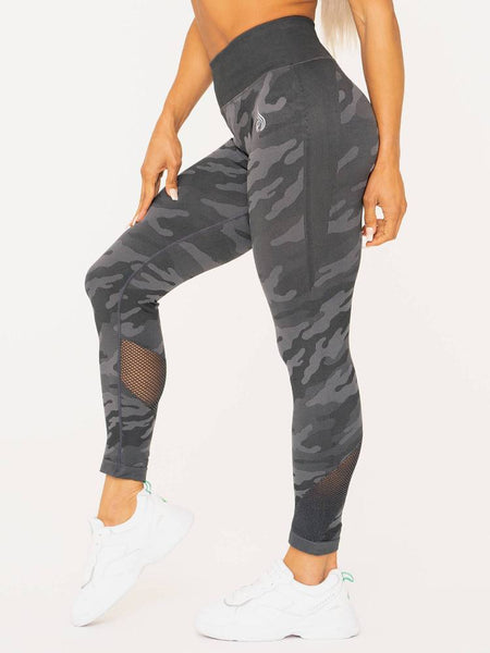 Camo Seamless High Waist Leggings Charcoal - Tonic UAE Camo Seamless High Waist Leggings Charcoal - Athletic Wear Ryderwear - tonic athletic apparel Tonic UAE - tonic UAE