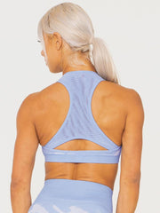 Camo Seamless Sports Bra Blue - Tonic UAE Camo Seamless Sports Bra Blue - Athletic Wear Ryderwear - tonic athletic apparel Tonic UAE - tonic UAE