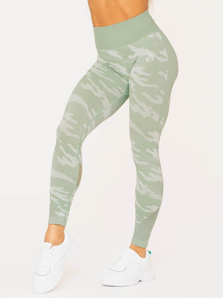 Camo Seamless High Waist Leggings Sage