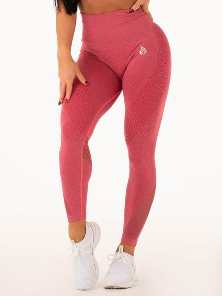 Seamless High Waist Leggings Hot Pink - Tonic UAE Seamless High Waist Leggings Hot Pink - Athletic Wear Ryderwear - tonic athletic apparel Tonic UAE - tonic UAE