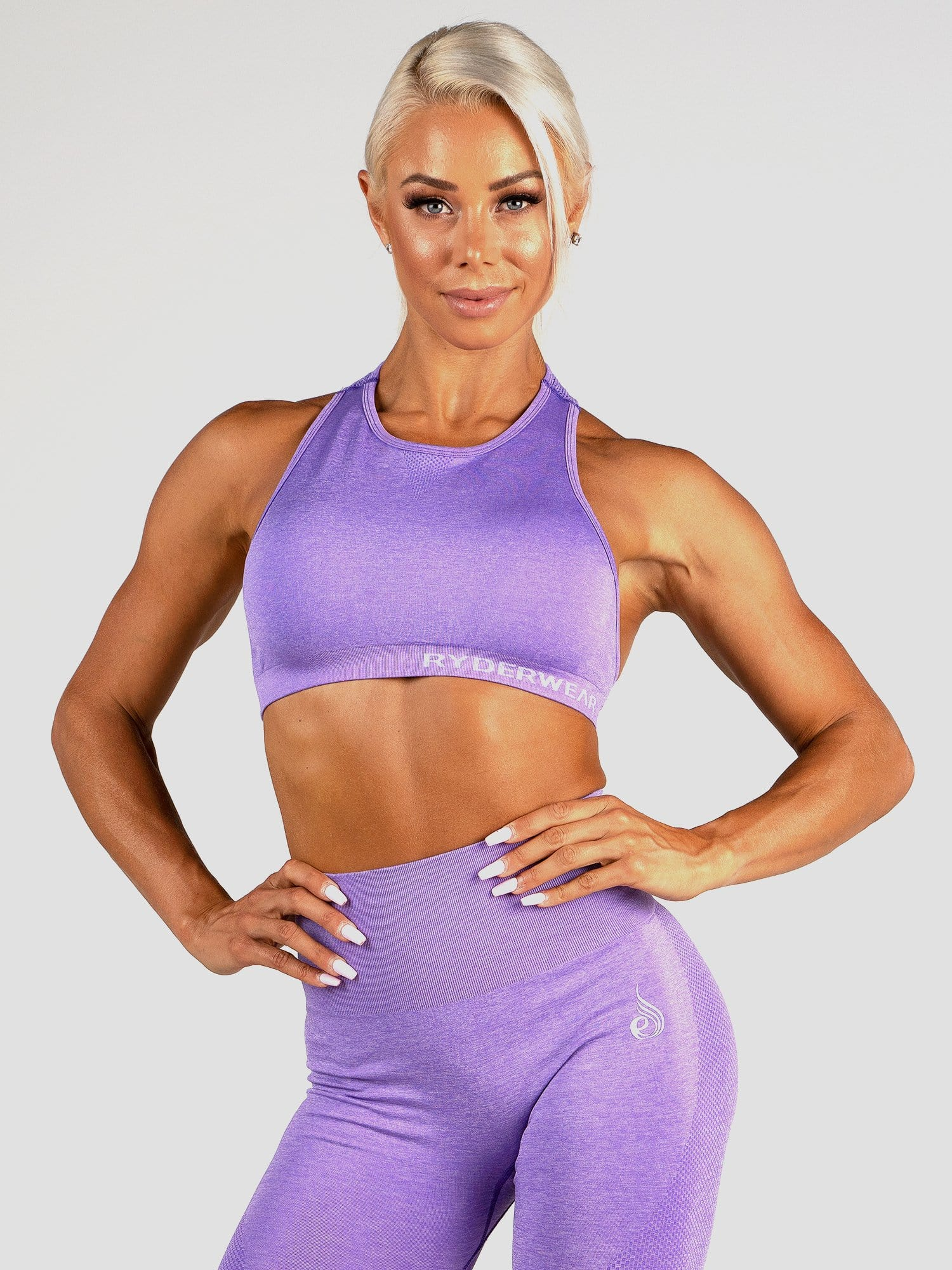 Seamless Sports Bra Purple Marl - Tonic UAE Seamless Sports Bra Purple Marl - Athletic Wear Tonic UAE - tonic athletic apparel Tonic UAE - tonic UAE