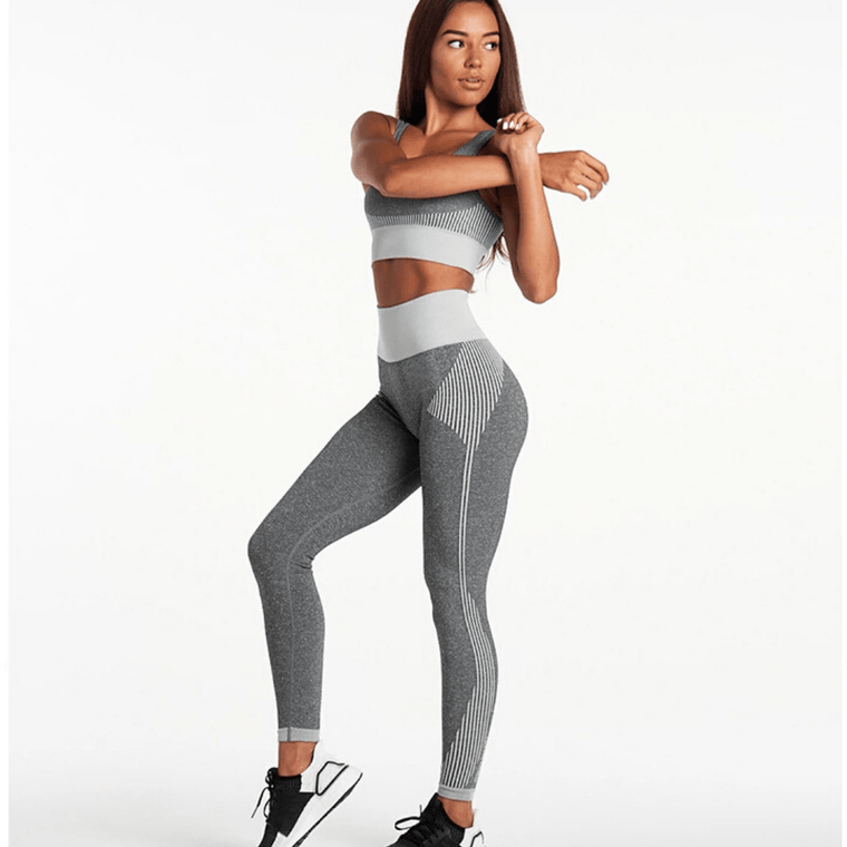 Seamless High Waist Contrast Leggings