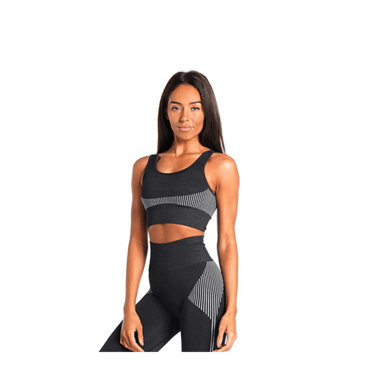 Seamless Contrast Sports Bra
