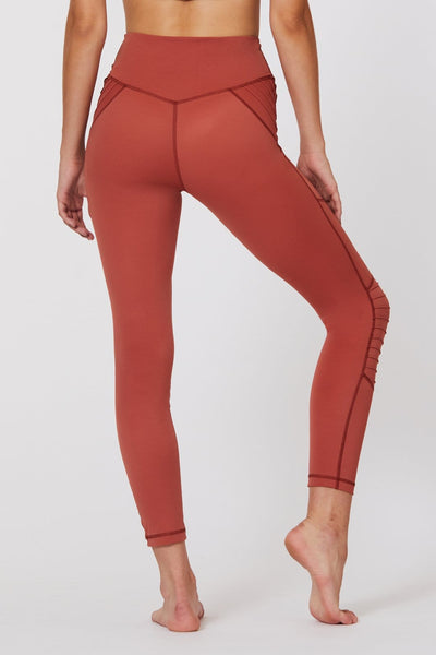 Utopia Moto 7/8 Legging Rust - Tonic UAE Utopia Moto 7/8 Legging Rust - Athletic Wear L'URV - tonic athletic apparel Tonic UAE - tonic UAE
