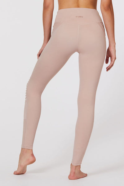 Race Ready Moto Legging in Dusty Pink - Tonic UAE Race Ready Moto Legging in Dusty Pink - Athletic Wear L'URV - tonic athletic apparel Tonic UAE - tonic UAE