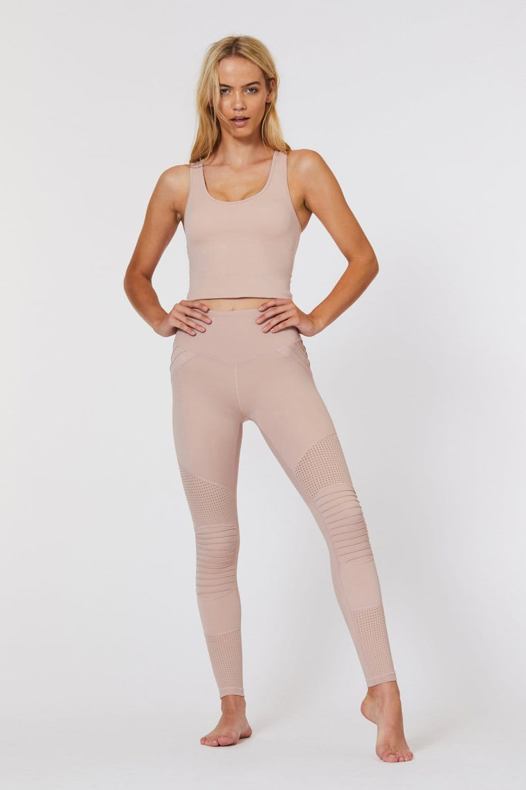 Race Ready Moto Legging in Dusty Pink