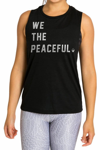 We The Peaceful Muscle Tank - Tonic UAE We The Peaceful Muscle Tank - Athletic Wear Inner Fire - tonic athletic apparel Tonic UAE - tonic UAE