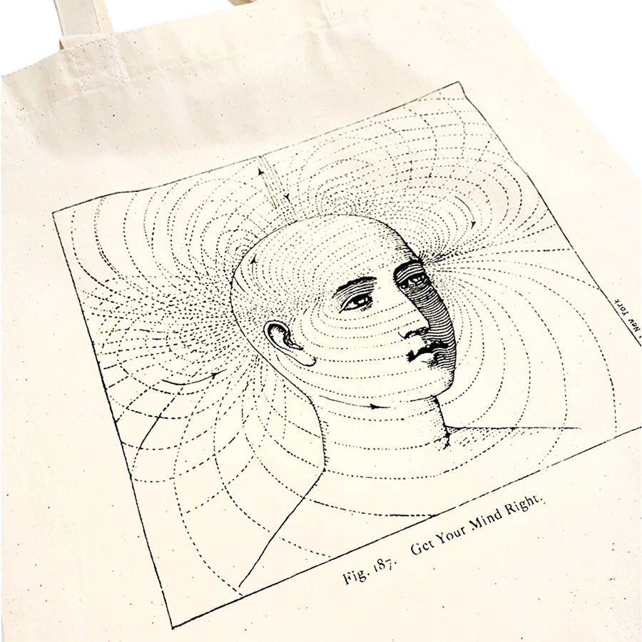 Like Mind BRAINWAVES Grocery Tote