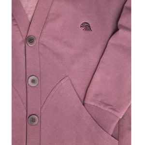 Like Mind New York Pacific Cardigan Mauve Detail