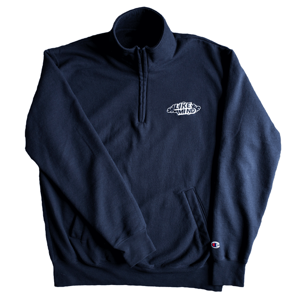 Cloud Logo Champion® 1/4 Zip (Navy)