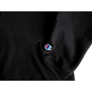 Cloud Logo Champion® 1/4 Zip (Black)