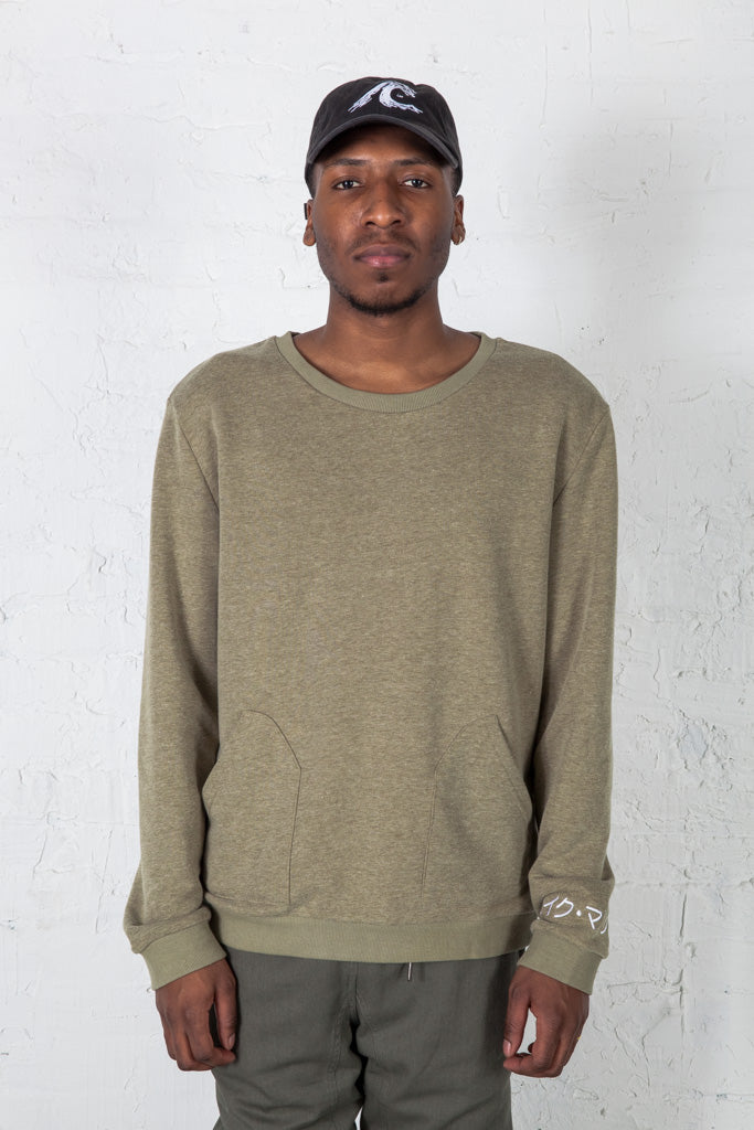 Kana Pocket Crew Neck (Olive)