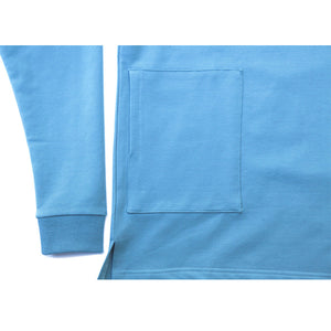The Front-side Long Sleeve Blue