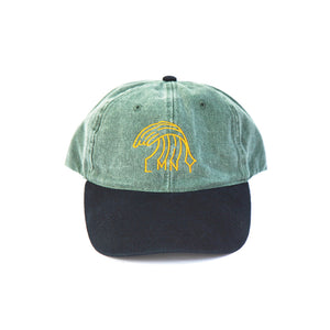 The New Wave Cap (Green Denim) Front