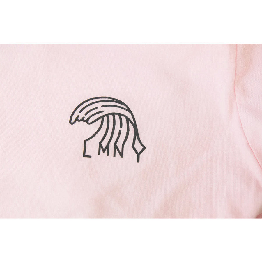 Like Mind New York Summer Waves Tee Soft Pink