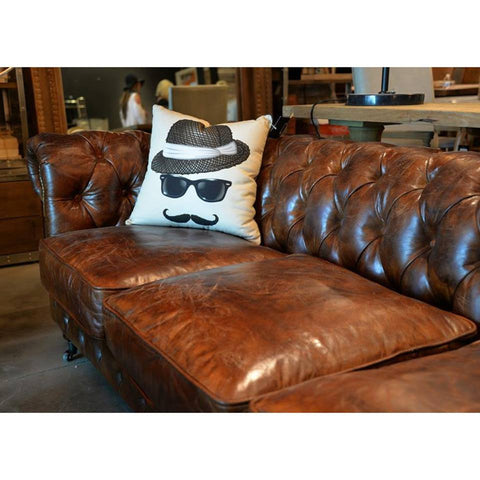 Distressed leather sofa - various sizes.