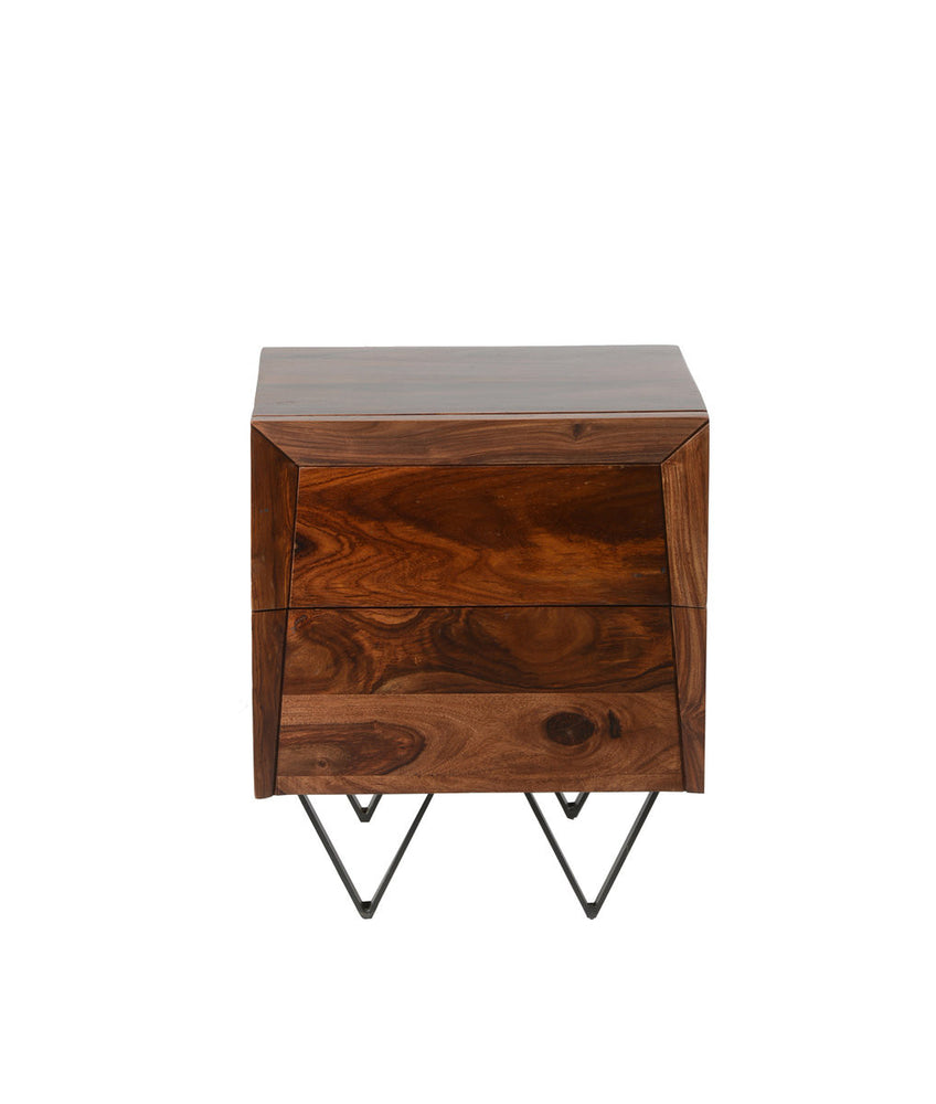 Matrix side table with storage