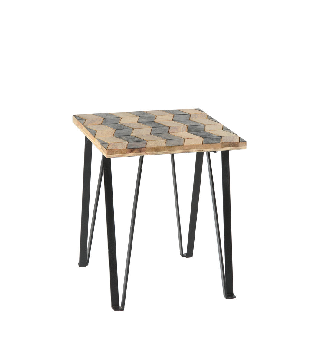 MATRIX PARQUET END TABLE - SHEESHAM ROSEWOOD