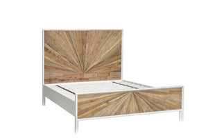 CASABLANCA BED - NATURAL RUSTIC / WHITE LACQUER