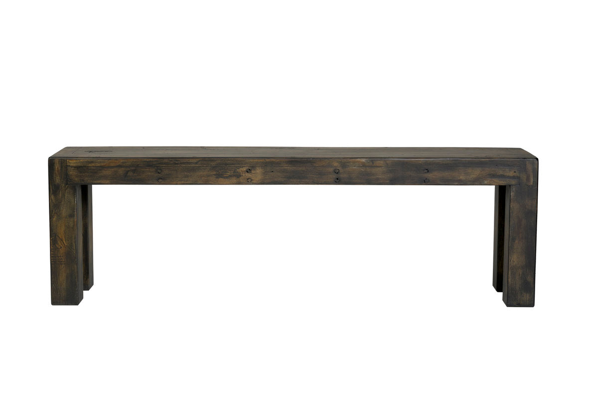 POST & RAIL BENCH - GOLDRUSH
