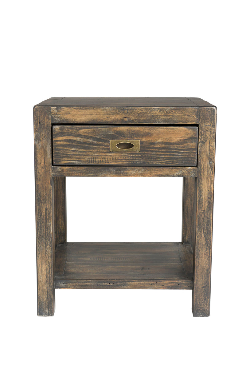 POST & RAIL SMALL SIDE TABLE - GOLDRUSH