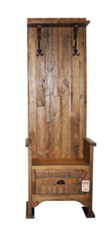 "BAVARIA SINGLE HALL BENCH 22"" - NATURAL RUSTIC"