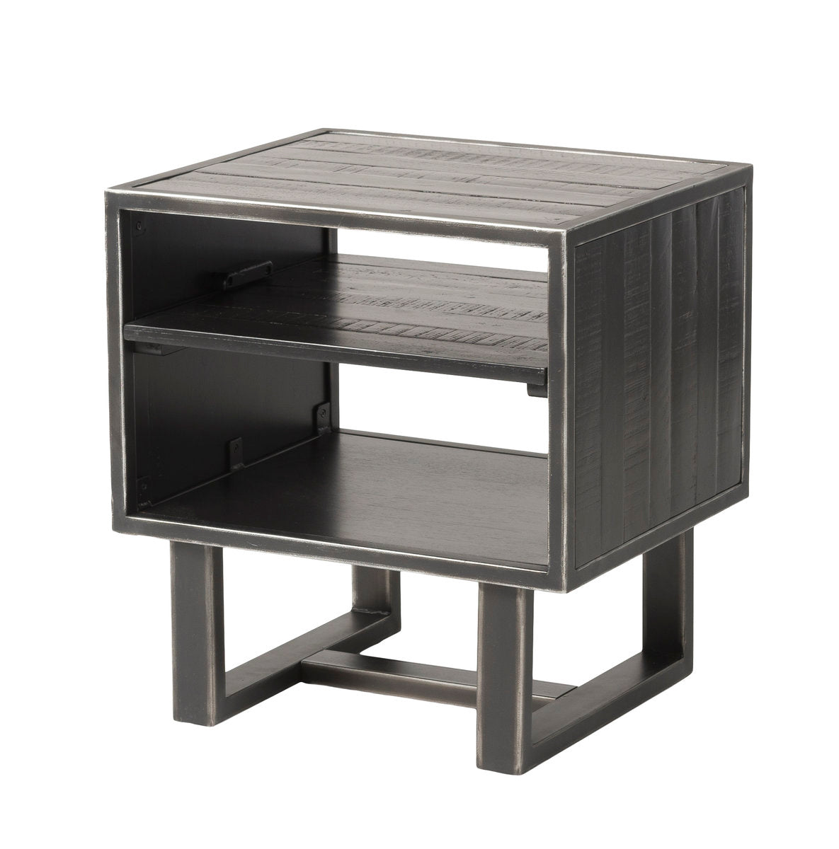 THEROS SIDE TABLE W / SHELF