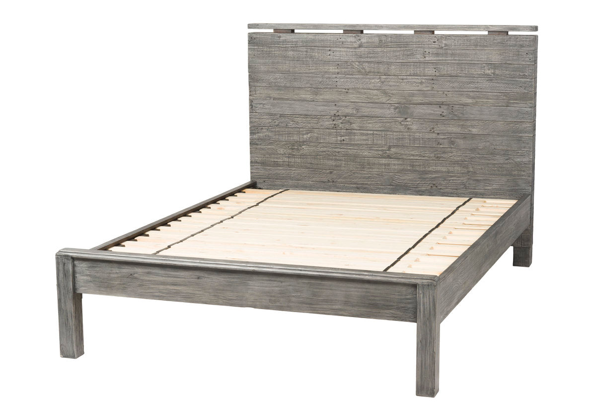 TUSCAN SPRING LOW FOOTBOARD KING BED - GREY WASH