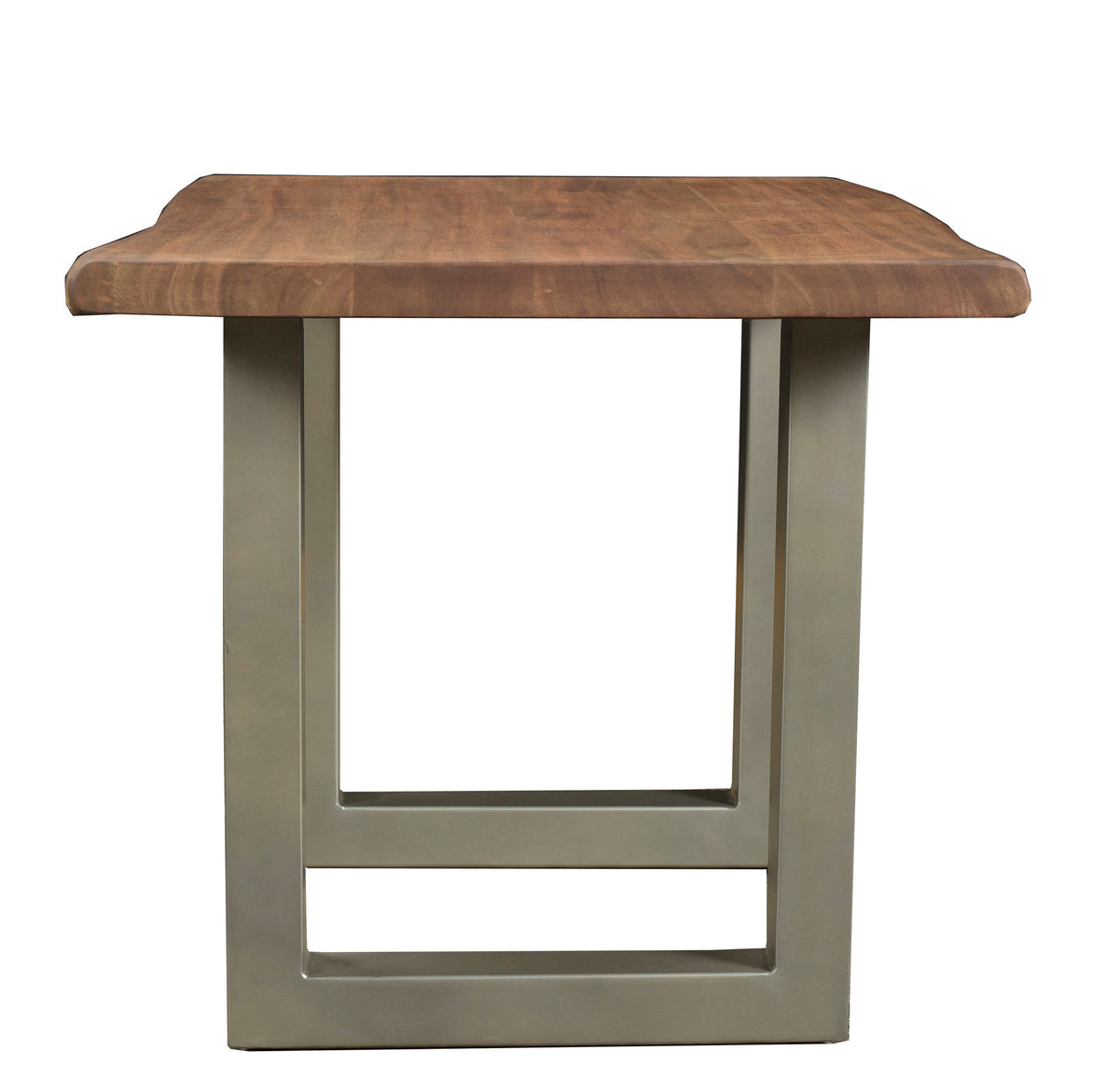 TAJ END TABLE - MATTE BROWN U TUBE METAL BASE