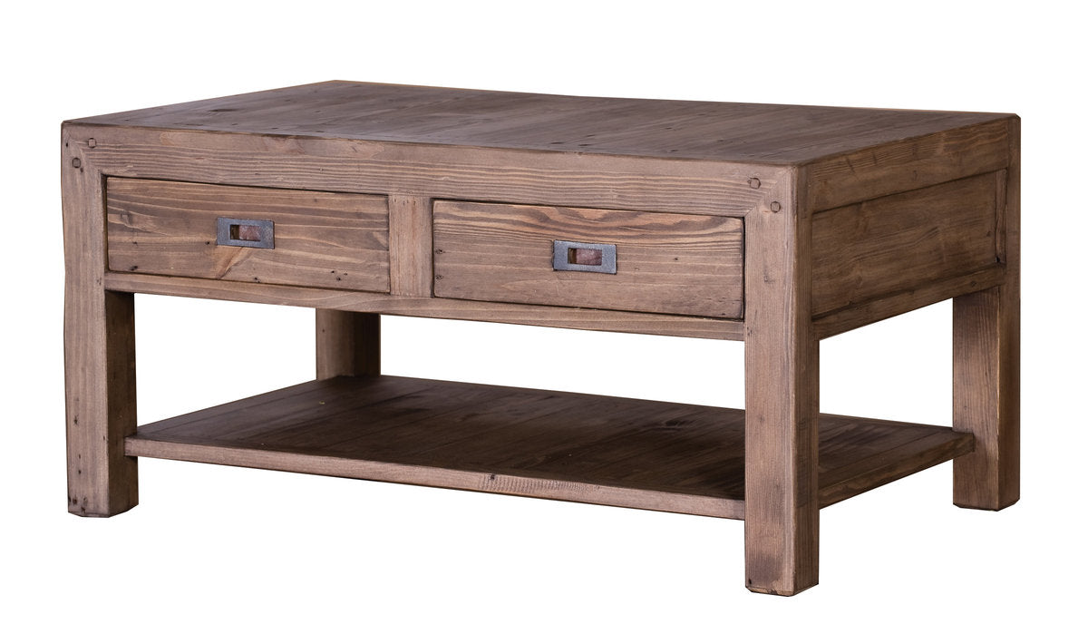 POST & RAIL SMALL COFFEE TABLE - SUNDRIED