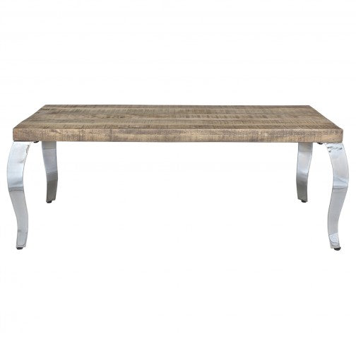 Natalia Coffee Table in Reclaimed and Chrome