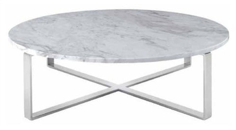 Rosi coffee table with marble top , pick your base color.