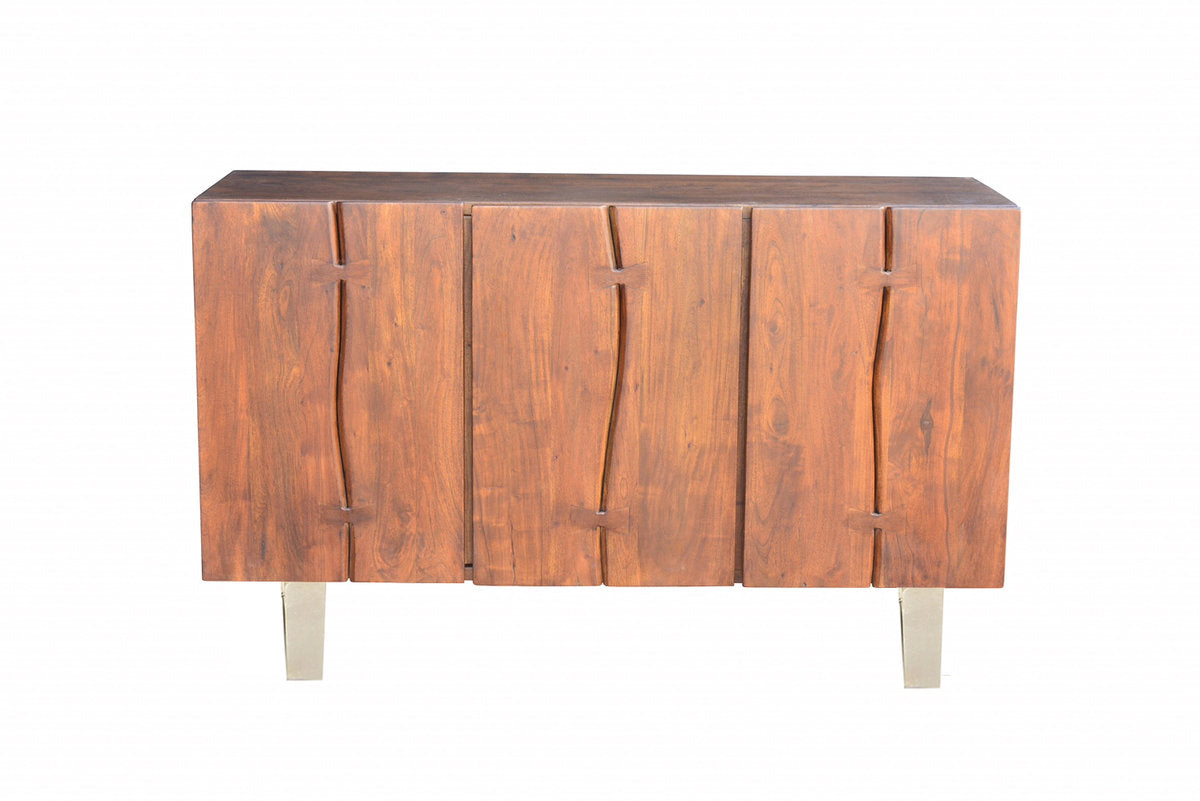 VERDE SIDEBOARD - DARK WALNUT/NICKEL ANTIQUE